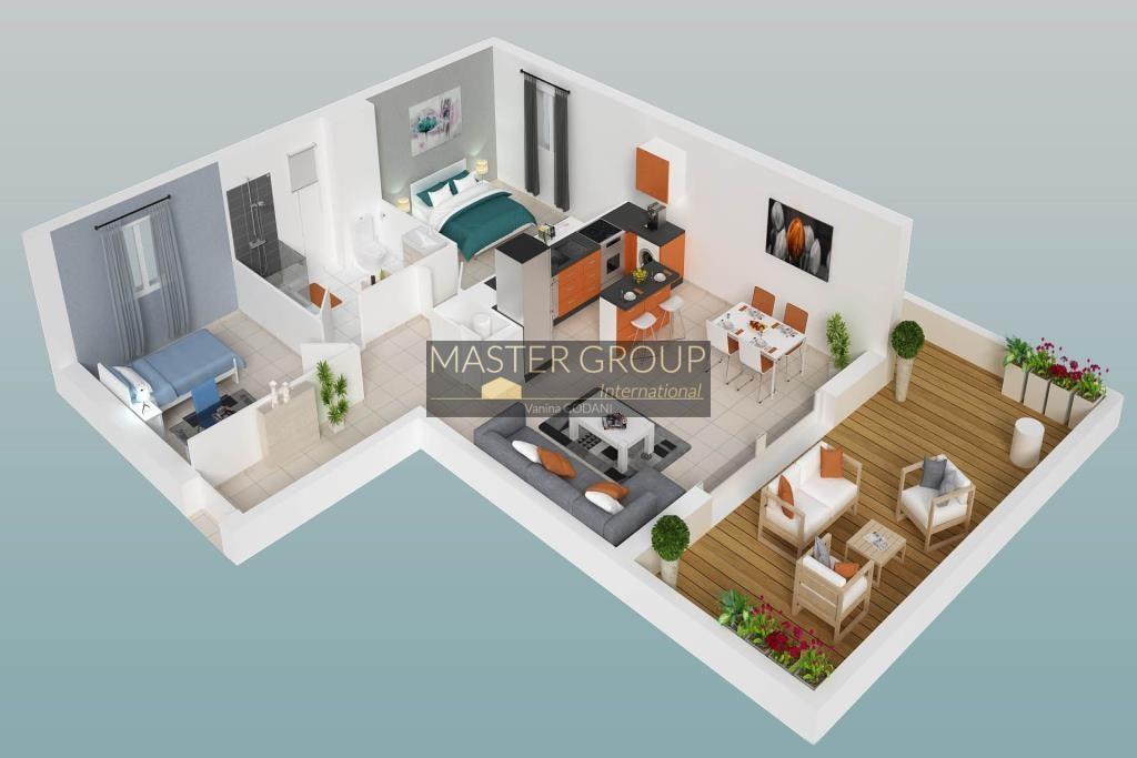 plan-3d-d-un-appartement-3-pieces-de-la-residence-l-orenzzinca-situe-a-penta-di-casinca-en-corse